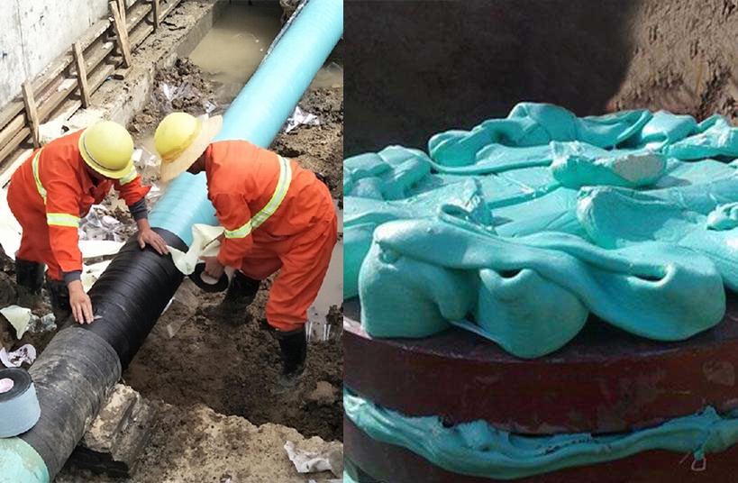 粘弹体防腐材料用于管道的补口、塑形