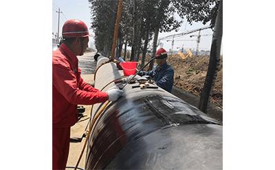 3PE管道防腐压敏胶型热收缩带的施工要求