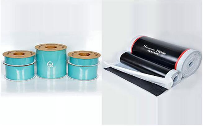 粘弹体防腐胶带和压敏胶型热收缩带两种不同结构的材料