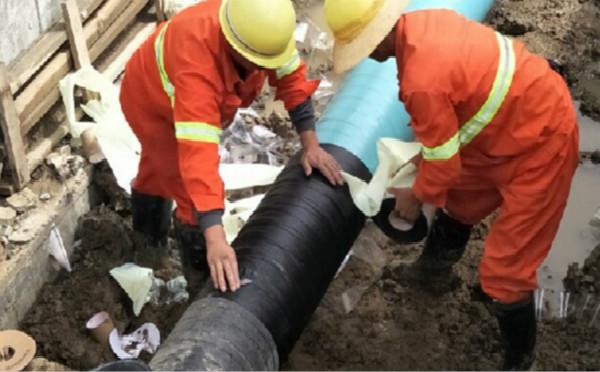3PE管道补口修复中如何使用粘弹体材料和聚合物胶粘带